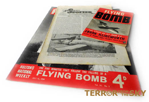 Some of the publications that contained information about the V weapons (details were heavily censored to avoid giving away any useful information to the enemy).